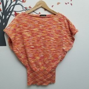 SWEATER PROJECT Short Sleeve Ribbed Sweater Top M
